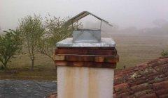 Chapeau de cheminée après installation